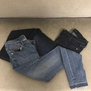 2 pairs of size 28 denim jeans